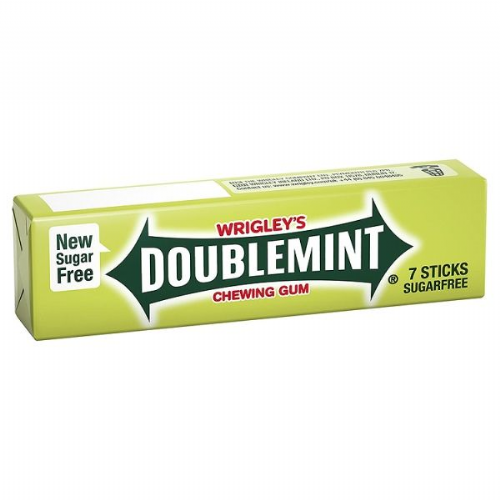 Wrigley's Doublemint Sugarfree Chewing Gum 7 Sticks 18g